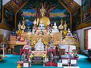 07 APRIL 2013 - CHIANG MAI, CHIANG MAI, THAILAND: The Buddha statues at Wat Ou Sai Kham in Chiang Mai, Thailand. Chiang Mai is the largest town in northern Thailand and is popular with tourists and backpackers.       PHOTO BY JACK KURTZ