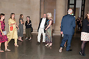 DAVID MELLOR; JUDY GOLDHILL, Tate Britain Summer party. Tate. Millbank. 27 June 2011. <br /> <br />  , -DO NOT ARCHIVE-© Copyright Photograph by Dafydd Jones. 248 Clapham Rd. London SW9 0PZ. Tel 0207 820 0771. www.dafjones.com.