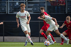 LIVERPOOL, ENGLAND - Wednesday, September 15, 2021: AC Milan's Christian Foglio during the UEFA Youth League Group B Matchday 1 game between Liverpool FC Under19's and AC Milan Under 19's at the Liverpool Academy. Liverpool won 1-0. (Pic by David Rawcliffe/Propaganda)