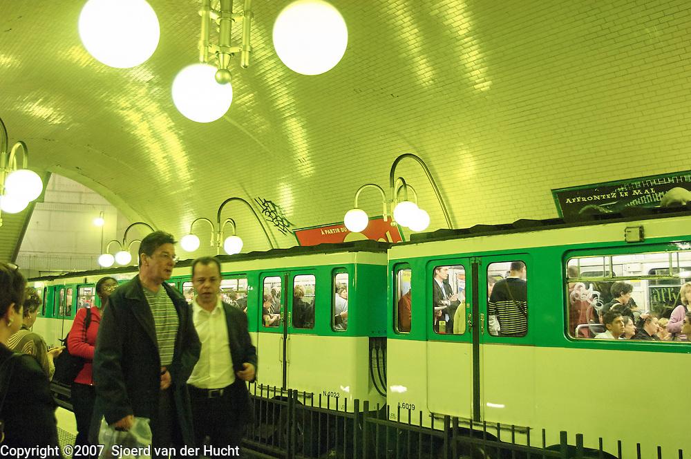 Metro station Cite in Paris, France