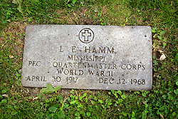 26 August 2017:   A part of the History of McLean County Illinois.<br /> <br /> Tombstones in Evergreen Memorial Cemetery.  Civic leaders, soldiers, and other prominent people are featured.<br /> <br /> Section 16 - Veterans Section<br /> L E Hamm<br /> Mississippi<br /> Private First Class Quartermaster Corps<br /> April 30, 1917<br /> December 12, 1968