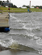 Nottingham, GREAT BRITAIN,  Waves breaking at the end of the course,on the abandoned Sunday. 2008 National Schools Regatta, Holme Pierrepont, Nottingham, ENGLAND,  on Sunday 25/05/2008  [Mandatory Credit:  Peter Spurrier/Intersport Images]