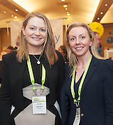 20/11/2014  repro free   Martina Doohan AIB and Lisa Cooley AIB, at the Galway Bay Hotel for the two day conference Meet West attracting over 400 business people from around Ireland for the largest networking event in the Country . Photo:Andrew Downes