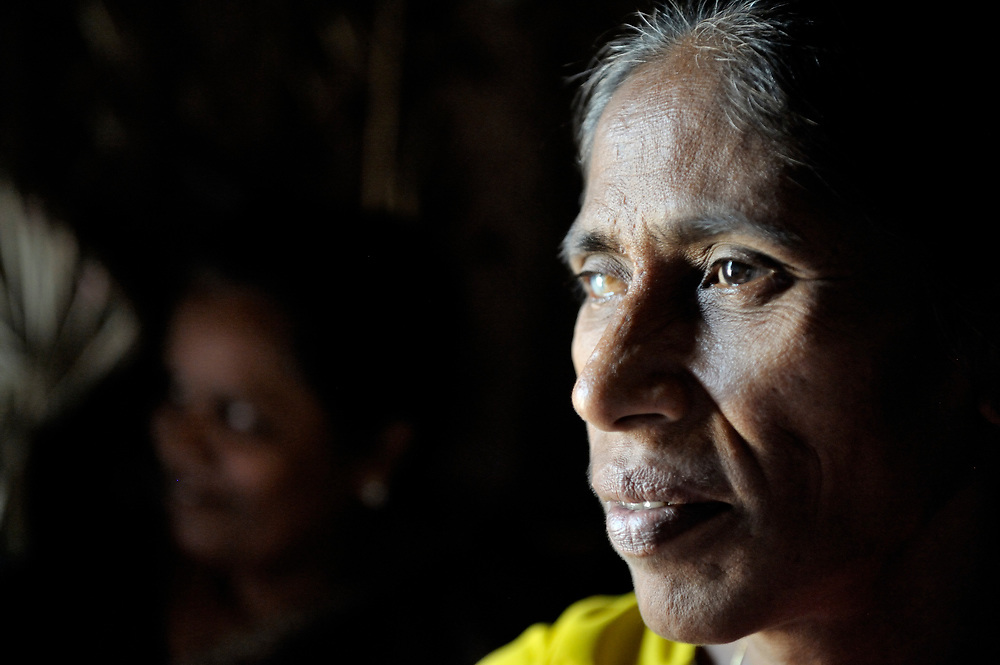 An HIV positive woman in Chennai, India, who contracted HIV from her husband who has since died. With help from the Madras Christian Council of Social Service, she is today involved in education and advocacy for others within her neighborhood. She asked that her name not be published.