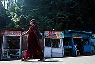 Indian street scene, Munnar, Western Ghats Mountains, Kerala, India