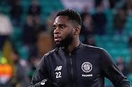 Odsonne Edouard of Celtic FC prepares ahead of the Europa League match between Celtic and FC Copenhagen at Celtic Park, Glasgow, Scotland on 27 February 2020.