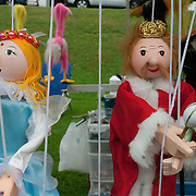 Hand made marionettes at a crafts fair in Wakefield, MA