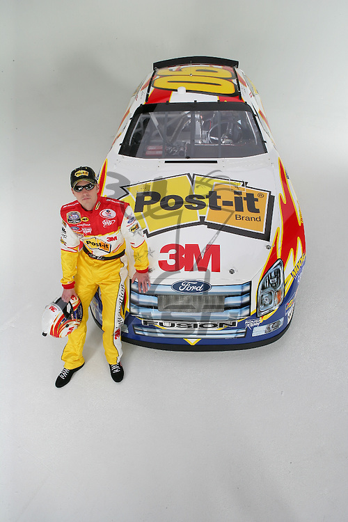 Concord, NC - Jan 11, 2006:  The No 06 3M Post-It Ford is photographed at D3 Studios in Concord, NC.