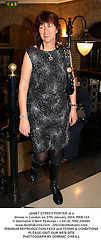 JANET STREET-PORTER at a dinner in London on 27th January 2004.PRB 134