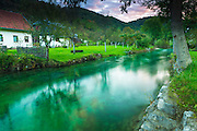 Korana Village and stream, Plitvice Lakes National Park, Croatia