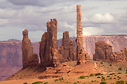 """Totem Pole"" rock formation.Monument Valley, Utah-Arizona.."