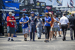 July 13, 2018 - Sparta, Kentucky, United States of America - William Byron (24) gets ready to practice for the Quaker State 400 at Kentucky Speedway in Sparta, Kentucky. (Credit Image: © Stephen A. Arce/ASP via ZUMA Wire)