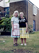 Sylvia White with daughter Susan Kessler. Susan un-offically cares for her mother at Denby Court on 3rd August 2016 in London, United Kingdom. Denby Court is a sheltered housing estate for older people ran by London Borough of Lambeth. With 41 flats for the elderly, Denby Court will soon to be redeveloped. All residents will move out of the premises.