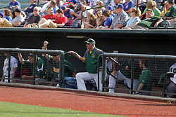 28 May 2017: Ryne Sandberg and Brooks Carey during a Frontier League Baseball game between the Lake Erie Crushers and the Normal CornBelters at Corn Crib Stadium on the campus of Heartland Community College in Normal Illinois