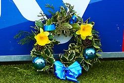 A Mansfield Town wreath - Mandatory by-line: Ryan Crockett/JMP - 04/01/2020 - FOOTBALL - One Call Stadium - Mansfield, England - Mansfield Town v Grimsby Town - Sky Bet League Two