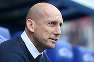 Jaap Stam, the Reading manager looks on from the dugout before k/o. EFL Skybet  championship match, Reading  v Huddersfield Town at The Madejski Stadium in Reading, Berkshire on Saturday 24th September 2016.<br /> pic by John Patrick Fletcher, Andrew Orchard sports photography.