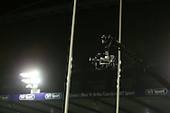 a general view of a television camera at the BT Sport Cardiff Arms Park. Guinness Pro12 rugby match, Cardiff Blues v Scarlets at the BT Cardiff Arms Park in Cardiff, South Wales on Friday 28th October 2016.<br /> pic by Andrew Orchard, Andrew Orchard sports photography.