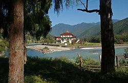 The Punakha Dzong is shown October 11, 2005 in Punakha Bhutan.