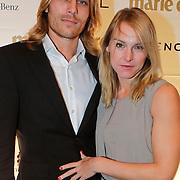 NLD/Amsterdam/20111019 - Uitreiking Prix de la Moda 2011, Wende Snijders en partner Rene Sommer