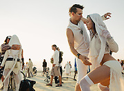 07:25 AM  - Dancers at the Abraxas' Annual Sunrise Party at Burning Man 2013