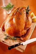 Whole roast chicken food photos.