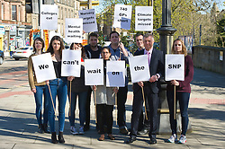 The Scottish Liberal Democrat leader Willie Rennie was in Edinburgh today watching the clock for action by the SNP and said that mental health patients and families who deserve free nursery care cannot be expected to wait any longer.<br /> <br /> (c) Ger Harley| Edinburgh Elite media