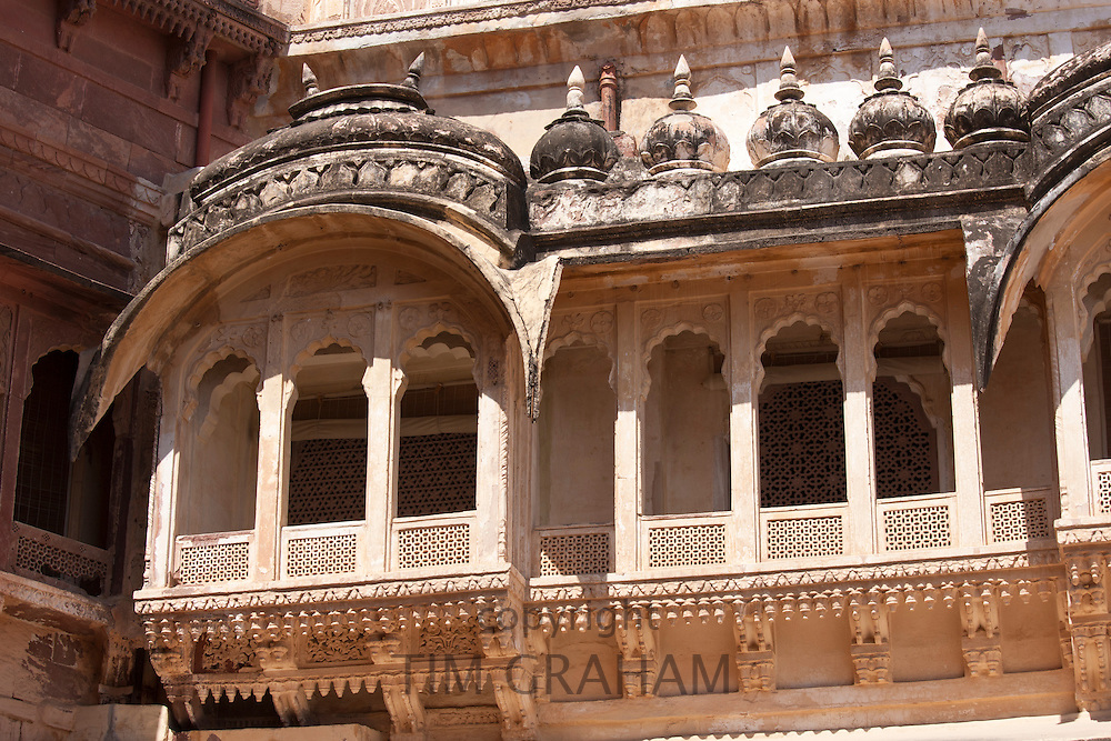 Mehrangarh Fort 19th Century The Treasury Building, Daulatkhana,  at Jodhpur in Rajasthan, Northern India