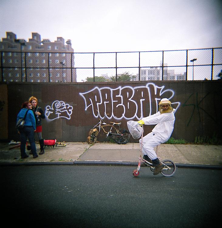 Beekeeper, Bike Kill, Bedford Stuyvesant, Brooklyn, 2008