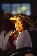 Sunday church service, Aitutaki, Cook Islands, (editorial use only, no model release)<br />