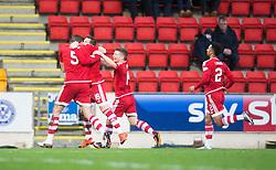 Aberdeen's Peter Pawlett celebrates after scoring their second goal. <br /> St Johnstone 3 v 4Aberdeen, SPFL Ladbrokes Premiership played 6/2/2016 at McDiarmid Park, Perth.