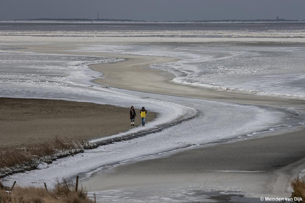 Foto van ijsvlakte in de Waddenzeen bij Zwarte Haan