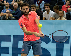 25.10.2016, Stadthalle, Wien, AUT, ATP Tour, Erste Bank Open, 1. Runde, im Bild Gilles Simon (FRA) // Gilles Simon of France during the 1st round match of Erste Bank Open of ATP Tour at the Stadthalle in Vienna, Austria on 2016/10/25. EXPA Pictures © 2016, PhotoCredit: EXPA/ Sebastian Pucher