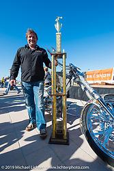 "Christian Rivard's ""Spartacus"" bike took top honors at the Boardwalk Bike Show during Daytona Bike Week. FL, USA. March 14, 2014.  Photography ©2014 Michael Lichter."