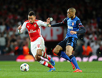 Arsenal's Francis Coquelin in action during todays match  <br /> <br /> Photographer Ashley Western/CameraSport<br /> <br /> Football - UEFA Champions League Second Round 1st Leg - Arsenal v Monaco - Wednesday 25th February 2015 - Emirates Stadium - London<br /> <br /> © CameraSport - 43 Linden Ave. Countesthorpe. Leicester. England. LE8 5PG - Tel: +44 (0) 116 277 4147 - admin@camerasport.com - www.camerasport.com