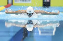 JAKARTA, Aug. 19, 2018  Li Zhuhao of China competes during Men's 200m Butterfly Final in the 18th Asian Games in Jakarta, Indonesia, Aug. 19, 2018. Li won the bronze medal. (Credit Image: © Ding Ting/Xinhua via ZUMA Wire)