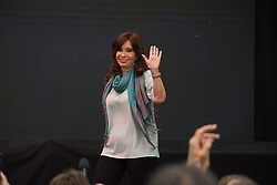 November 19, 2018 - Buenos Aires, Argentina - Argentina's former President Cristina Fernandez de Kirchner during a meeting of the World Forum of Critical Thought in Buenos Aires, Argentina, Monday, November .19, 2018.  The World Forum of Critical Thought is considered the counter summit of the G-20 that will take place in a few days in Buenos Aires. (Credit Image: © Mario De Fina/NurPhoto via ZUMA Press)