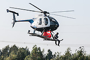 Hughes MD 500E Civilian Helicopter. Photographed in Israel