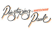 Pinstriping Logo Execution for Wheelchair Paulie, Disabled Veteran Pinstriping Artist