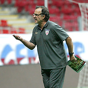 Athletic Bilbao's coach Marcelo BIESLA during their team's training session in Istanbul, Turkey, 24 August 2011. Athletic Bilbao will face Trabzonspor in the UEFA Europa League play off second leg soccer match on 25 August.  Photo by TURKPIX