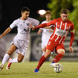 BRISBANE, AUSTRALIA - MAY 22:  during the NPL Queensland Senior Mens Round 16 match between Olympic FC and Brisbane Strikers at Goodwin Park on May 22, 2019 in Brisbane, Australia. (Photo by Patrick Kearney)
