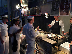 SHIMODA, Japan (May 20, 2017) Sailors from the guided-missile destroyer USS Mustin (DDG 89) enjoy the Shimoda Black Ship Festival. The Navy's participation in the festival celebrates the heritage of U.S.-Japanese naval partnership first established by Commodore Matthew Perry's 1853 port visit. (U.S. Navy photo by Daniel A. Taylor/Released)170520-N-WC492-773<br />Join the conversation:<br />http://www.navy.mil/viewGallery.asp<br />http://www.facebook.com/USNavy<br />http://www.twitter.com/USNavy<br />http://navylive.dodlive.mil<br />http://pinterest.com<br />https://plus.google.com