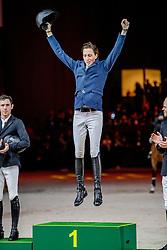 FUCHS Martin (SUI)<br /> Genf - CHI Geneve Rolex Grand Slam 2019<br /> Siegerehrung<br /> Rolex Grand Prix<br /> Internationale Springprüfung mit Stechen<br /> International Jumping Competition 1m60<br /> Grand Prix Against the Clock with Jump-Off<br /> 15. Dezember 2019<br /> © www.sportfotos-lafrentz.de/Stefan Lafrentz