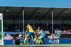 (L-R) goalkeeper Sreejehs Parattu Raveendran of India, Amit Rohidas of India, Tom Craig of Australia, Aaron Kleinschmidt of Australia, Varun Kumar of India during the Champions Trophy finale between the Australia and India on the fields of BH&BC Breda on Juli 1, 2018 in Breda, the Netherlands.