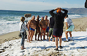 Behind the scenes on <br />Visa Superbowl Commercial<br />1/14/04<br />Malibu, CA