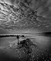 Winter on the beach at Compton Bay, Isle of Wight
