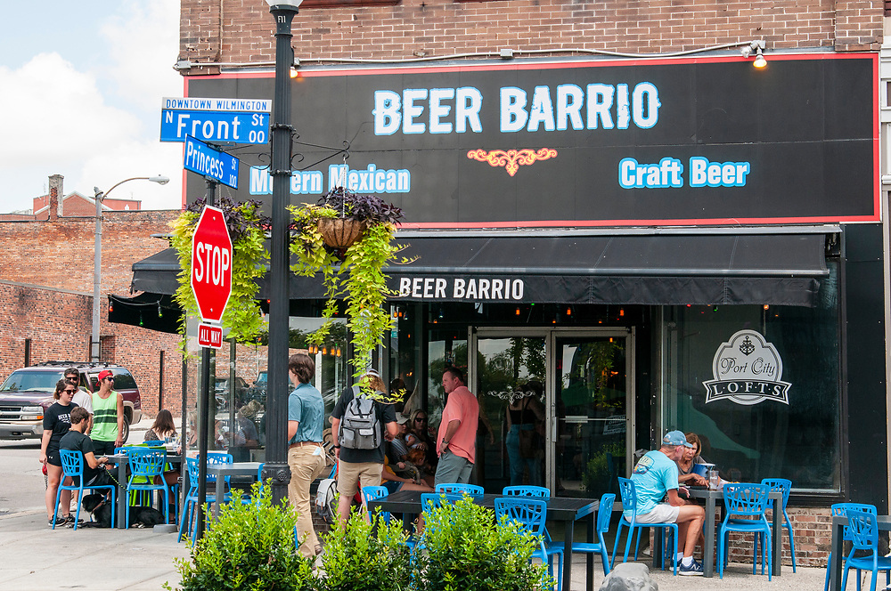 Beer Barrio in downtown Wilmington, North Carolina on Monday, August 9, 2021. Copyright 2021 Jason Barnette
