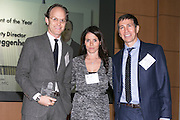 Ari Wiseman Deputy Director, Solomon R. Guggenheim Foundation (L),  2014 Cultural Achievement awardee, Jill Kaplan, Publisher Crain's New York Business (M) and Don Winter, Encompass Media (R). Celebrating the business leaders in New York City, who have built outstanding businesses - contributing to the economy and community as well. The MCC Business Awards Breakfast is the Manhattan Chamber's premiere event adn was attended by over 250 entrepreneurs, business owners, executives and legislative leaders in New York City. (Photo: www.JeffreyHolmes.com)
