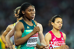 London, 2017 August 07. Caster Semenya, South Africa, heads for bronze in the women's 1,500m final on day four of the IAAF London 2017 world Championships at the London Stadium. © Paul Davey.