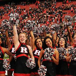 Oct 6, 2012: The Rutgers Scarlet Knights cheerleaders cheer during second half NCAA college football action between the Rutgers Scarlet Knights and UConn Huskies at High Point Solutions Stadium in Piscataway, N.J.