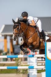 Emmen Kim, NED, Warriors Glory<br /> Nederlands Kampioenschap Springen<br /> De Peelbergen - Kronenberg 2020<br /> © Hippo Foto - Dirk Caremans<br />  06/08/2020